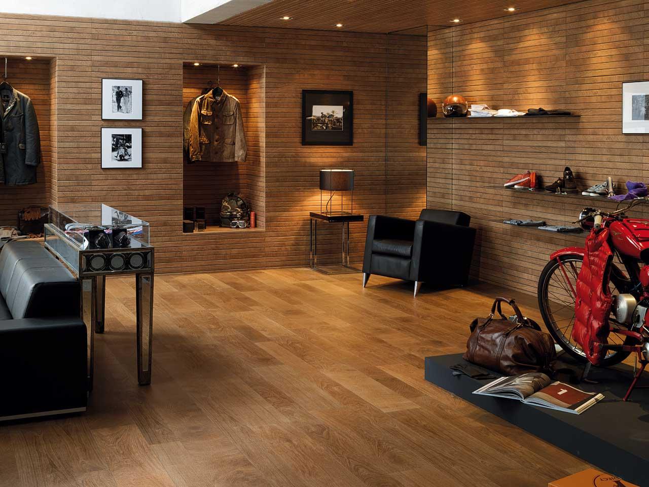 Pavimenti Porcelanosa slide Oxford Cognac22x90cm Liston Oxford Cognac31,6x90cm