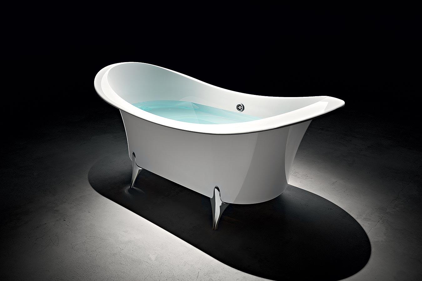 Vasca da bagno in acrilico grande dame 180x85 euroedil - Vasca da bagno acrilico ...