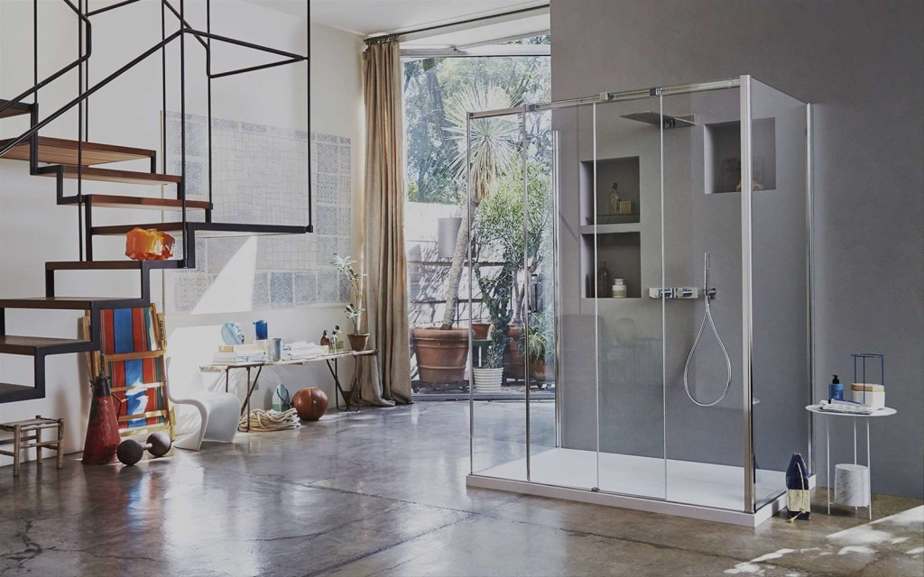 Box doccia vismara vetro vasta esposizione da euroedil - Box doccia vetrocemento ...