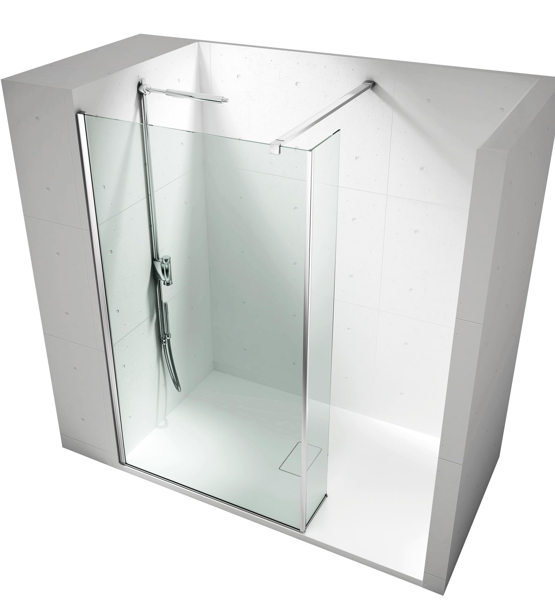 Box doccia vismara vetro vasta esposizione da euroedil - Pareti doccia su misura ...